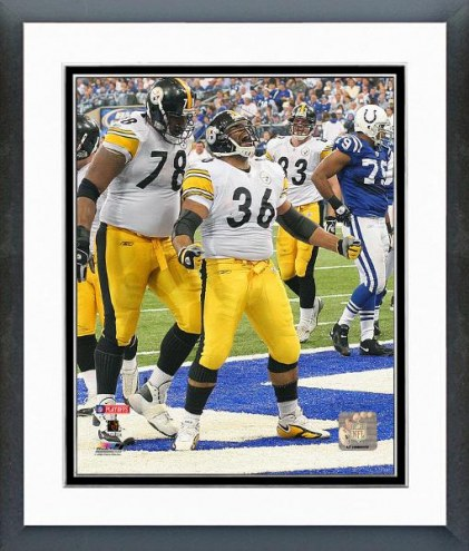 Pittsburgh Steelers Jerome Bettis 2005 Playoff Action Framed Photo