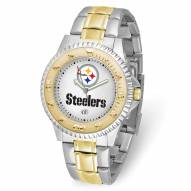 Pittsburgh Steelers Competitor Two-Tone Men's Watch