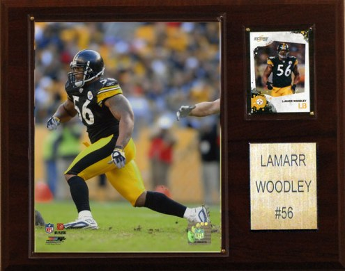 """Pittsburgh Steelers LaMarr Woodley 12 x 15"""" Player Plaque"""