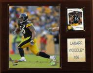 "Pittsburgh Steelers LaMarr Woodley 12 x 15"" Player Plaque"