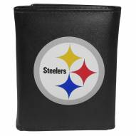 Pittsburgh Steelers Large Logo Leather Tri-fold Wallet