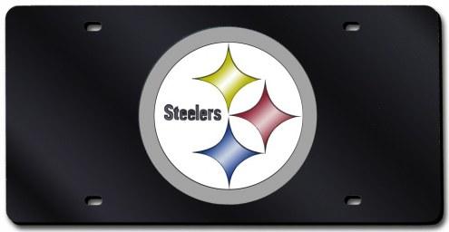 Pittsburgh Steelers Laser Cut Black License Plate