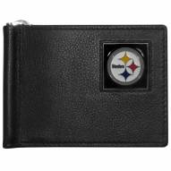 Pittsburgh Steelers Leather Bill Clip Wallet