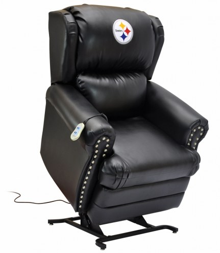 Pittsburgh Steelers Leather Coach Lift Recliner