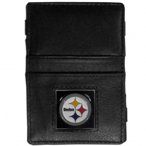 Pittsburgh Steelers Leather Jacob's Ladder Wallet
