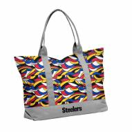 Pittsburgh Steelers Ikat Tote Bag