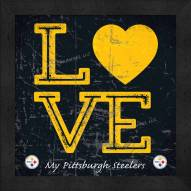 Pittsburgh Steelers Love My Team Color Wall Decor