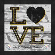 Pittsburgh Steelers Love My Team Square Wall Decor