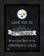 Pittsburgh Steelers Love You to and Back Framed Print