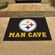 Pittsburgh Steelers Man Cave All-Star Rug