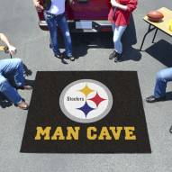 Pittsburgh Steelers Man Cave Tailgate Mat