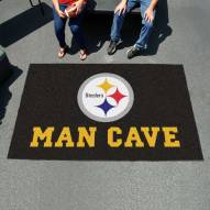Pittsburgh Steelers Man Cave Ulti-Mat Rug