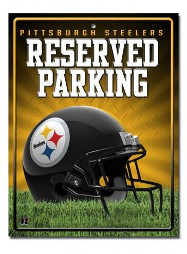 Pittsburgh Steelers Metal Parking Sign