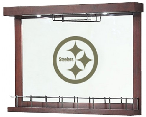 Pittsburgh Steelers Mirrored Wall Bar