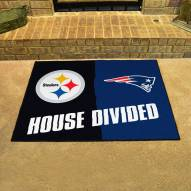 Pittsburgh Steelers/New England Patriots House Divided Mat