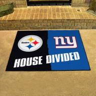 Pittsburgh Steelers/New York Giants House Divided Mat