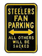 Pittsburgh Steelers NFL Authentic Parking Sign