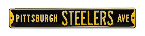Pittsburgh Steelers NFL Authentic Street Sign