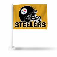 Pittsburgh Steelers Gold Car Flag
