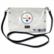 Pittsburgh Steelers Clear Envelope Purse