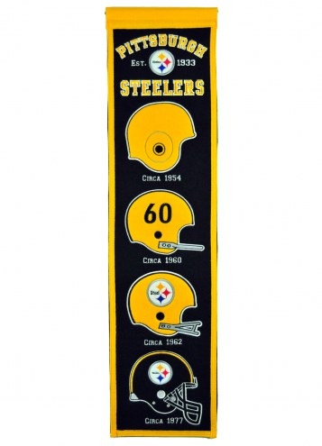 Pittsburgh Steelers NFL Heritage Banner