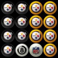 Pittsburgh Steelers NFL Home vs. Away Pool Ball Set