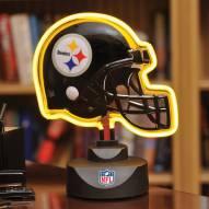 Pittsburgh Steelers Neon Helmet Desk Lamp