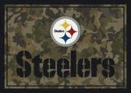 Pittsburgh Steelers NFL Team Camo Area Rug