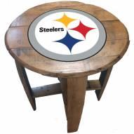 Pittsburgh Steelers Oak Barrel Table
