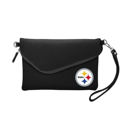 Pittsburgh Steelers Pebble Fold Over Purse