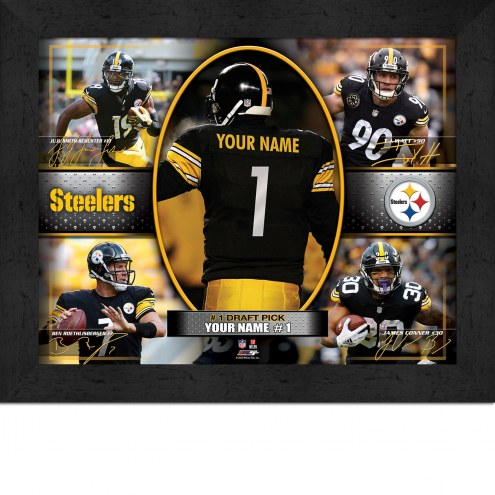 Pittsburgh Steelers Personalized 11 x 14 Framed Action Collage