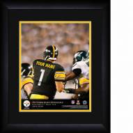 Pittsburgh Steelers Personalized 13 x 16 NFL Action QB Framed Print