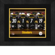 Pittsburgh Steelers Personalized Locker Room 13 x 16 Framed Photograph