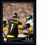 Pittsburgh Steelers Personalized 11 x 14 NFL Action QB Framed Print