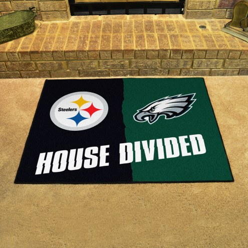 Pittsburgh Steelers/Philadelphia Eagles House Divided Mat