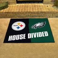 Pittsburgh Steelers/Philadelphia Eagles House Divided Mat