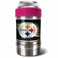Pittsburgh Steelers Pink 12 oz. Locker Vacuum Insulated Can Holder