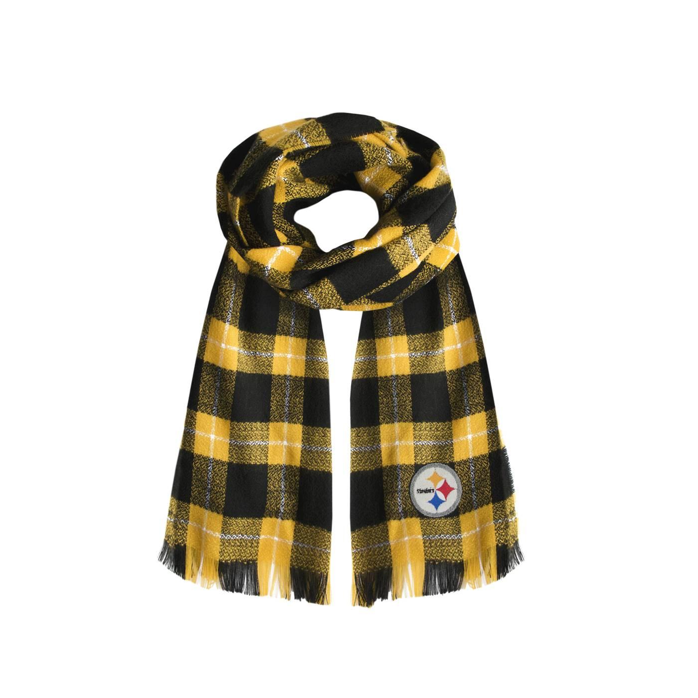 07fd4318 Pittsburgh Steelers Plaid Blanket Scarf