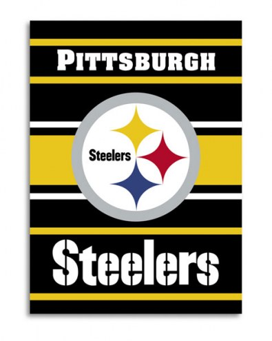 Pittsburgh Steelers NFL Premium 2-Sided House Flag