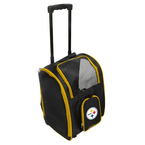 Pittsburgh Steelers Premium Pet Carrier with Wheels