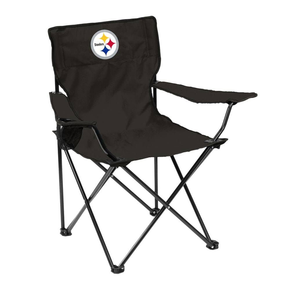 Get Ready For Tailgate Season With The Pittsburgh Steelers Quad Folding  Chair! Made With Team Colored Polyester Canvas, This Officially Licensed  Chair Has ...