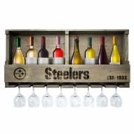 Pittsburgh Steelers Reclaimed Wood Bar Shelf