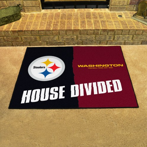 Pittsburgh Steelers/Washington Redskins House Divided Mat