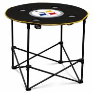 Pittsburgh Steelers Round Folding Table