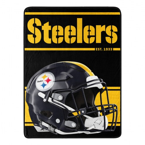 Pittsburgh Steelers Run Raschel Blanket