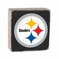 Pittsburgh Steelers Rustic Block