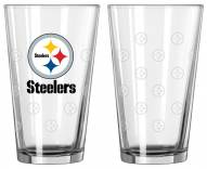 Pittsburgh Steelers Satin Etch Pint Glass - Set of 2