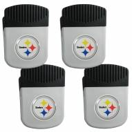 Pittsburgh Steelers 4 Pack Chip Clip Magnet with Bottle Opener