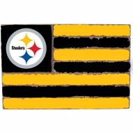 Pittsburgh Steelers Small Flag Wall Art