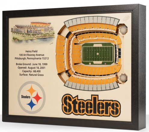 Pittsburgh Steelers 25-Layer StadiumViews 3D Wall Art